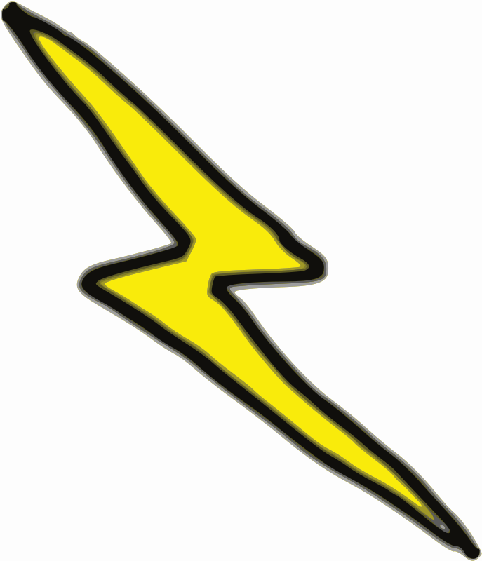 Cheap Lightning Bolt by lnxwalt - A first attempt at creating a lightning bolt graphic.