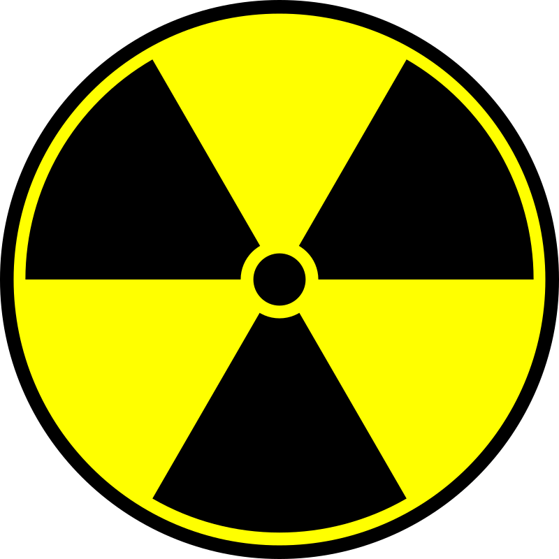 Radioactive symbol by IncessantBlabber - Circular image of the yellow and black radioactive symbol.