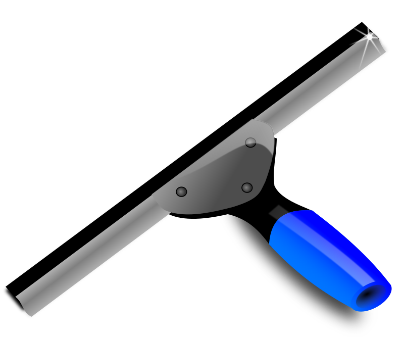 Blue squeegee by cavscout - blue squeege