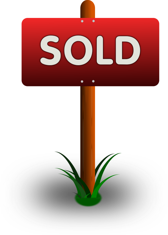 clipart sold sign rh openclipart org  house sold sign clipart