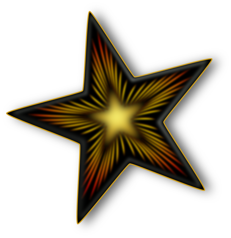 Dark Star by Merlin2525 - A Star with a dark design. Created with Inkscape.