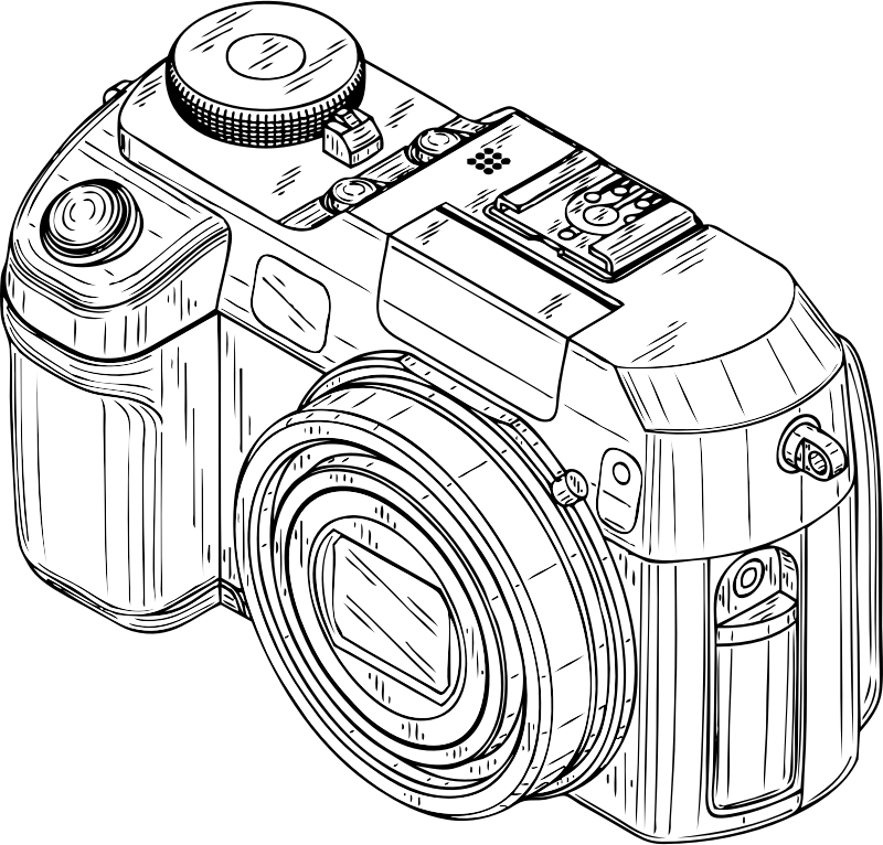digital camera by johnny_automatic - a digital camera from a U.S. Patent illustration