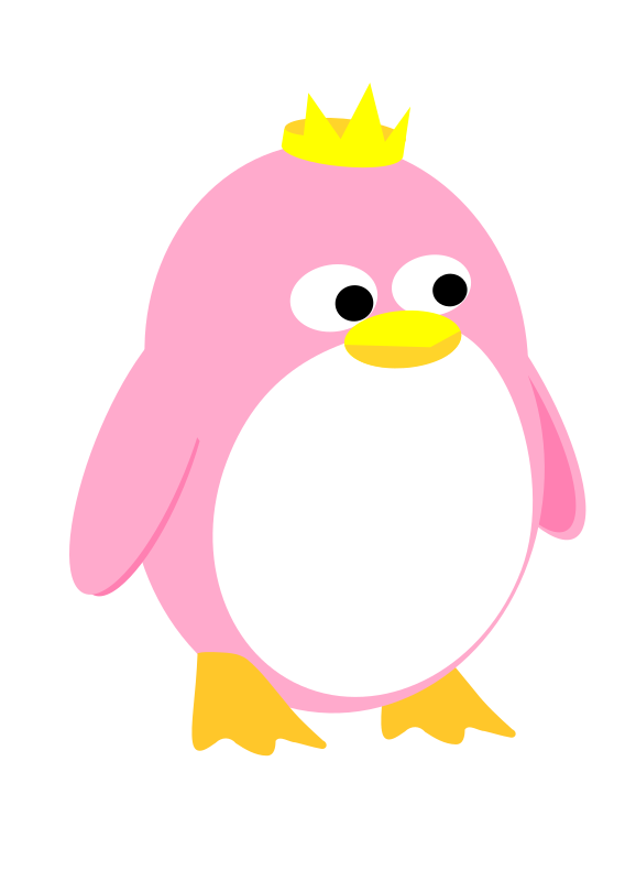 Princess Penguin by tuxwrench - a cute princess penguin