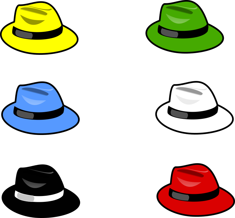 Six Hats 1 by kattekrab - six hats of various colors