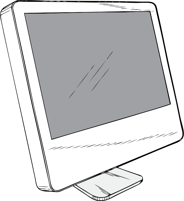 Cinema Display by johnny_automatic - a drawing of a computer monitor - specifically the Apple Cinema Display from a U.S. Patent illustration