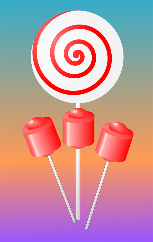 Clipart - Lollipops Candy