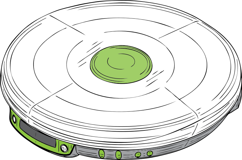 cd walkman by johnny_automatic - a portable cd player from a U.S. patent illustration