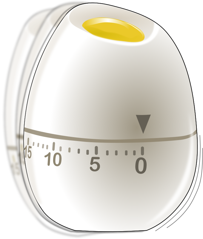 Shaking egg timer by Eggib - RRRRiing! Time is up!