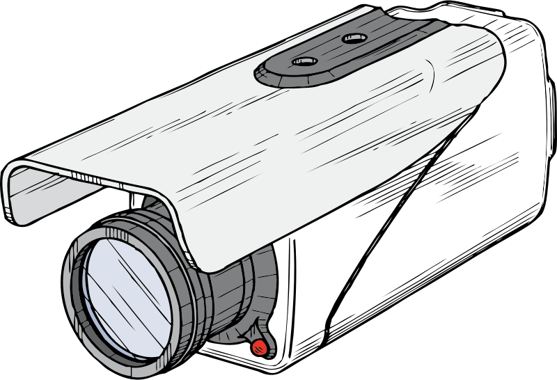 surveillance camera by johnny_automatic - a surveillance camera from a U.S. patent illustration