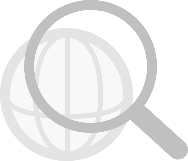 Web search (grayscale) by sibskull - Web search icon (grayscale)