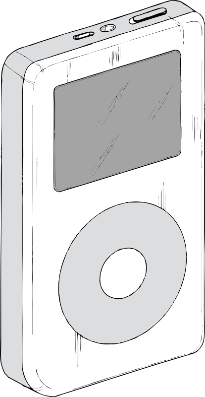 iPod by johnny_automatic - a late model iPod from a U.S. Patent illustration