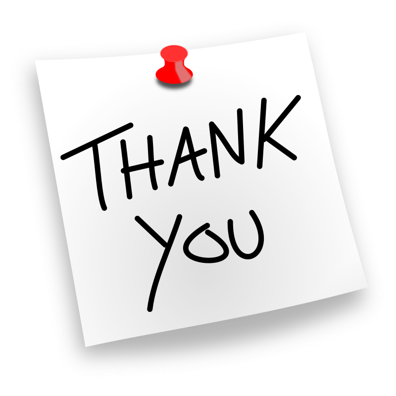 Thank You Pinned by juliobahar - A simple thank you noted which you can can clip on to other artwork of yours or just use it as an icon.