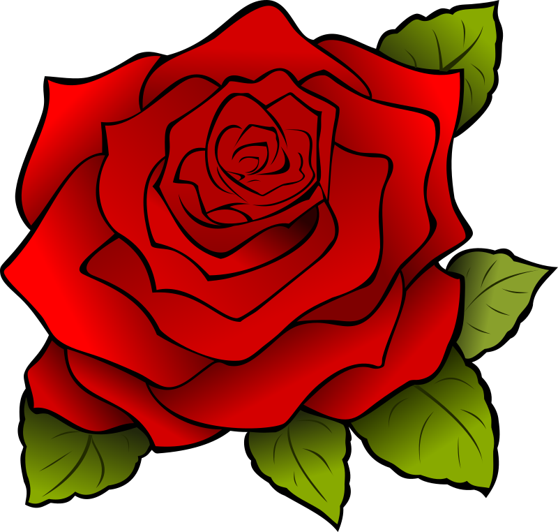 Rosa | Rose by Maw - Una rosa roja que dibuje para una amiga.