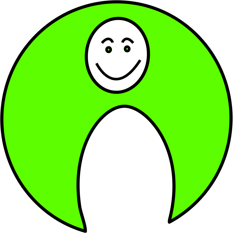 happy mood by mcol - A smiling man logo.