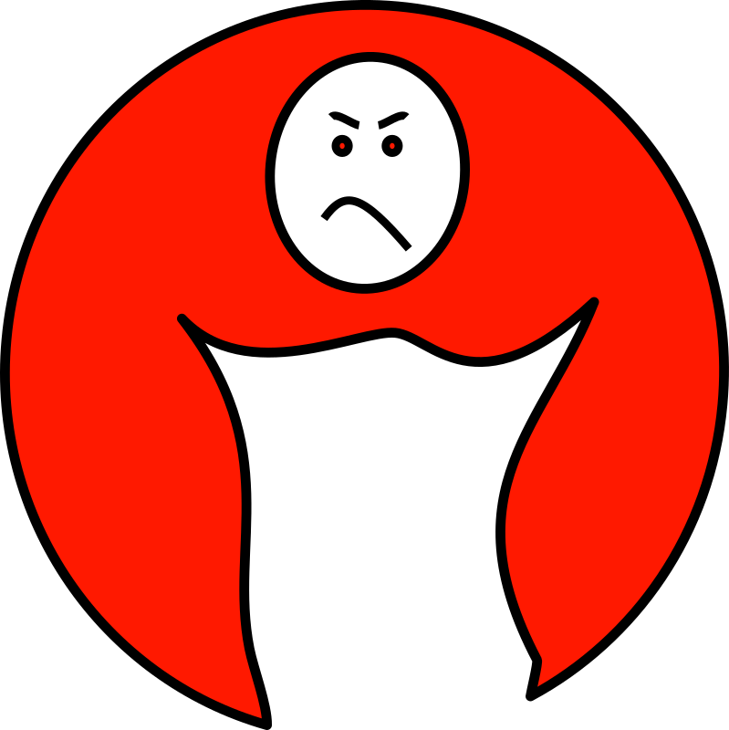 upset mood by mcol - A upset man logo.