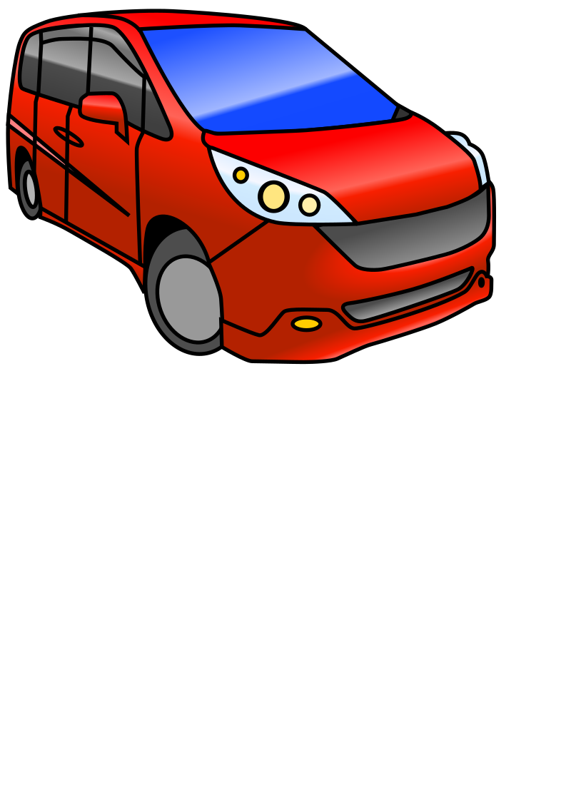 Minivan Automobile (color) by torisan - A coloredin drawing of a minivan
