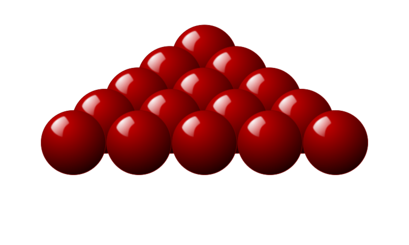 15 red Snooker balls by Stellaris - A group of 15 Snooker balls set up to look three-dimensional.