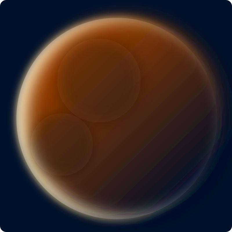 Red planet by Stellaris - A mysterious red planet in space.