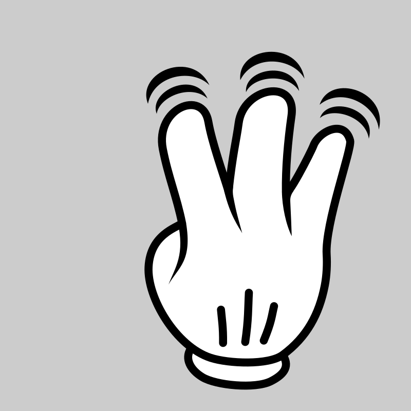 MultiTouch-Interface Mouse-theme 3-fingers-Double-Tap by BenBois - a dedicated set of mutlitouch functions icons in cartoon style