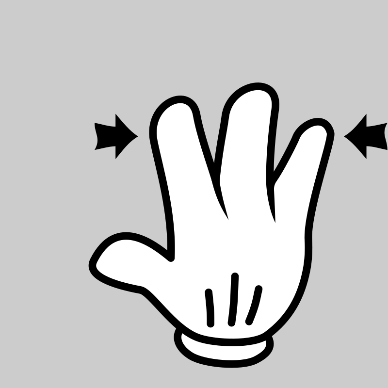 MultiTouch-Interface Mouse-theme 3-fingers-Pinch by BenBois - a dedicated set of mutlitouch functions icons in cartoon style