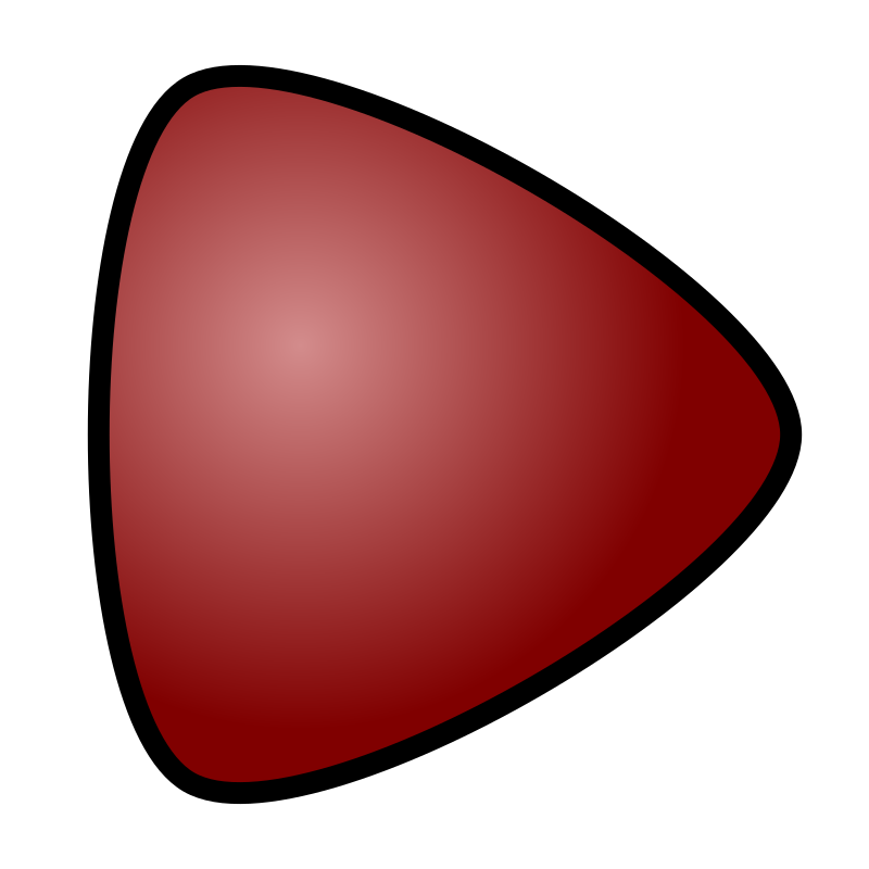 Play Button, red, for media player by Antares42