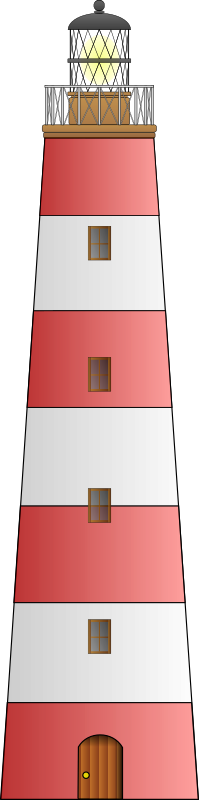 Lighthouse by matthewg42 - A stereotypical red and white striped lighthouse.