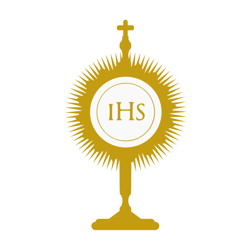 Blessed Sacrament by centroacademico - a monstrance (ostensorium) for exposition of the blessed sacrament. The IHS in the waffer (host) is a monogram for Jesus.