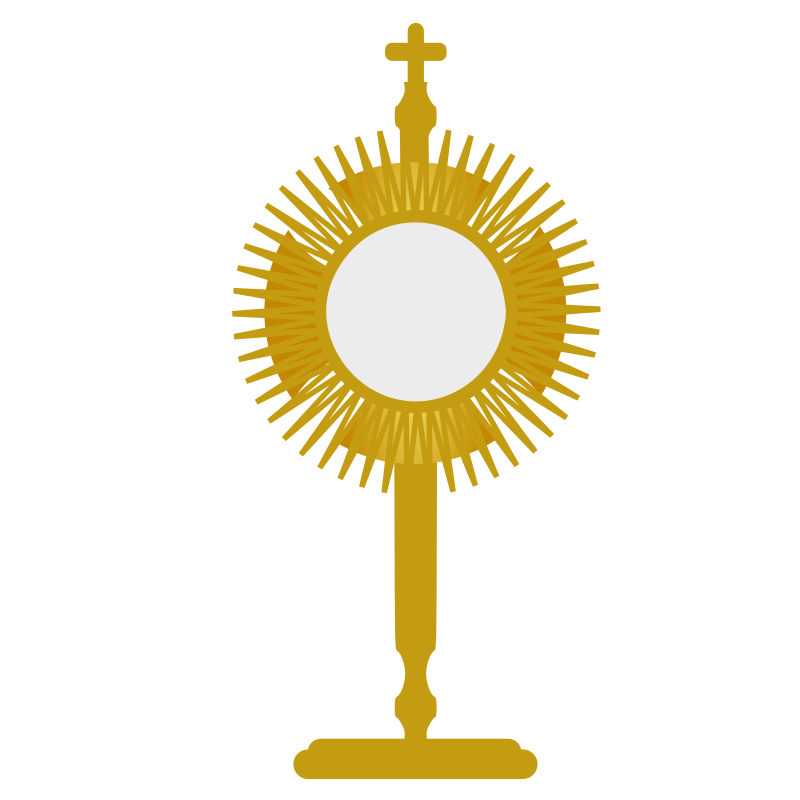 Blessed Sacrament by centroacademico - a monstrance (ostensorium) for exposition of the blessed sacrament in adoration.