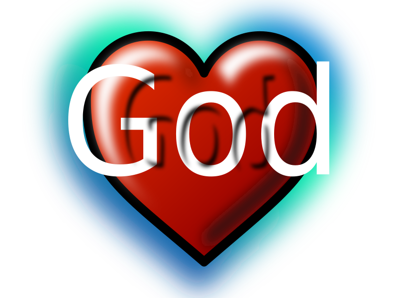 God Heart (Editable Text) by rygle - Heart to symbolise God and that he loves people. Text is free cafecoco font - http://www.lollibomb.com/download/win/cafecoco.zip