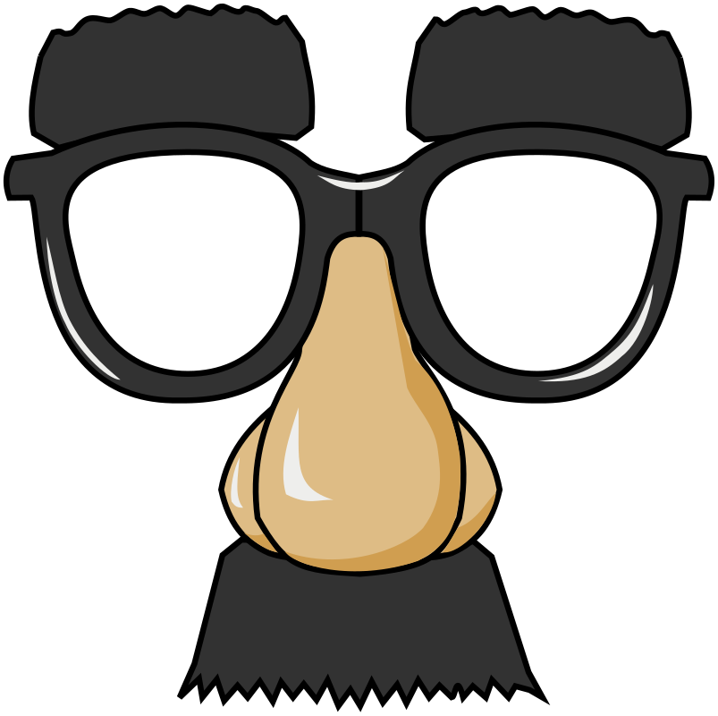 Funny Glasses by ghosthand - funny glasses or mask