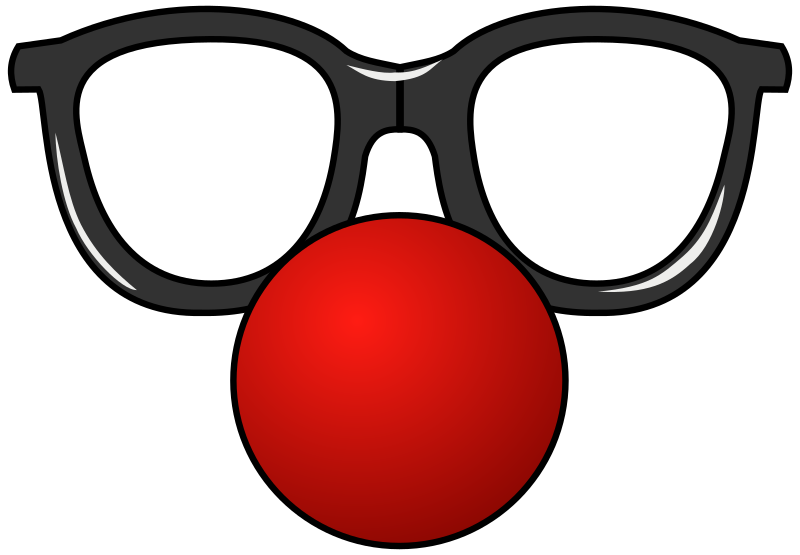 Funny Glasses 2 by ghosthand - clown glasses