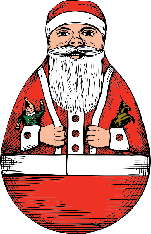 rolly-polly Santa by johnny_automatic - a rolly-polly Santa toy from a U.S. patent drawing