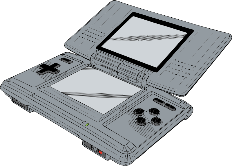 Nintendo DS by johnny_automatic - a Nintendo DS game from a U.S. patent drawing