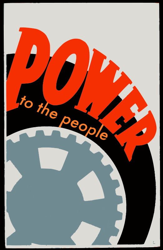 "Power to the People by j4p4n - I was watching those live streams of the ""Occupy Wallstreet"" protests in the USA, and I was moved by their passion. Somehow that influenced this ""poster"" about the power of people. Power to the people! :)"