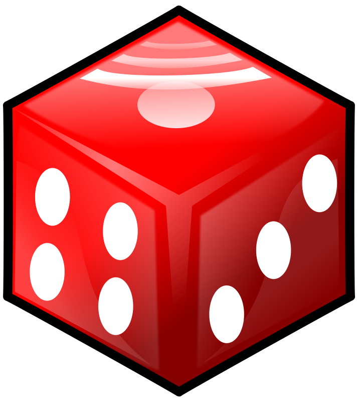Red Die by Philman401 - Red die with perspective.  If you used it, I'd really love to see your work :D