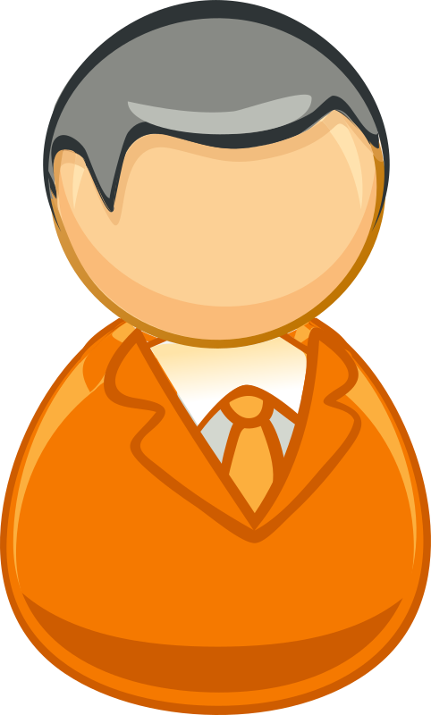 Architetto remix - Orange grey man icon by alexg