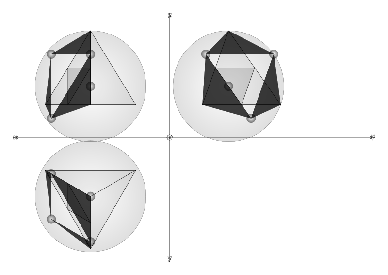 07…10 from tetrahedron to geodesic dome frequncy 2  by ric5sch -  from tetrahedron to geodesic dome frequncy 2