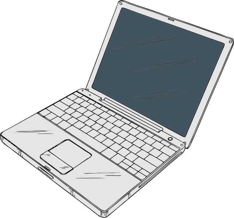 "12"" Powerbook by johnny_automatic - a 12"" Macintosh Powerbook laptop computer from a U.S. patent drawing"