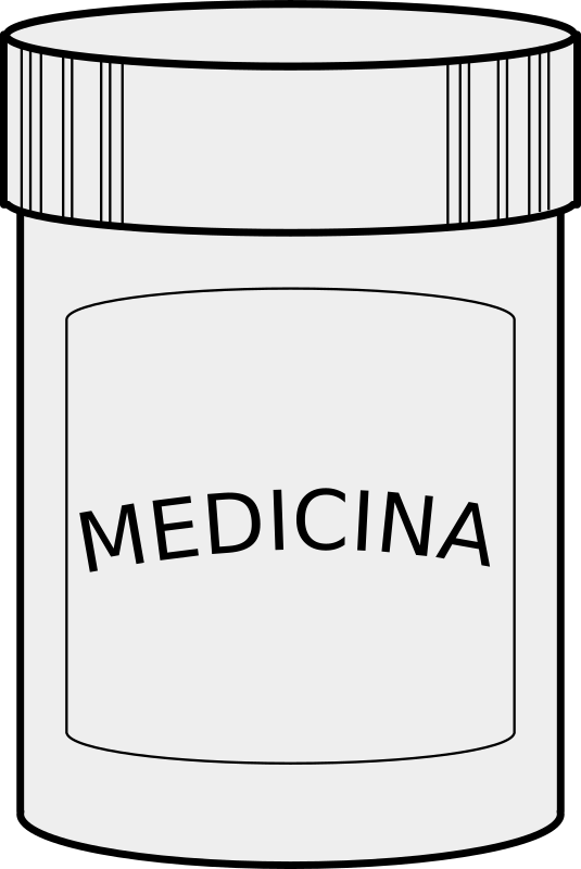Medicina by maoriveros - Es un frasco de píldoras [It's a pill's container]