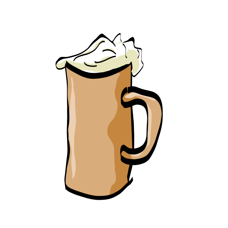 biere by OldLink - Drawing of a beer with foam.