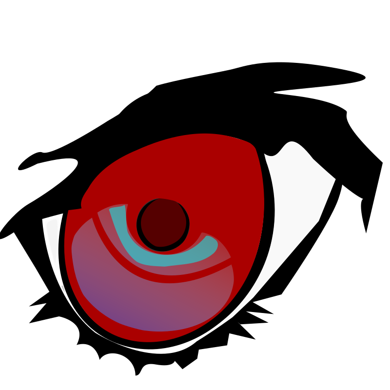 Easy_red_eye by jiero - A roughly drawn eye with inkscape