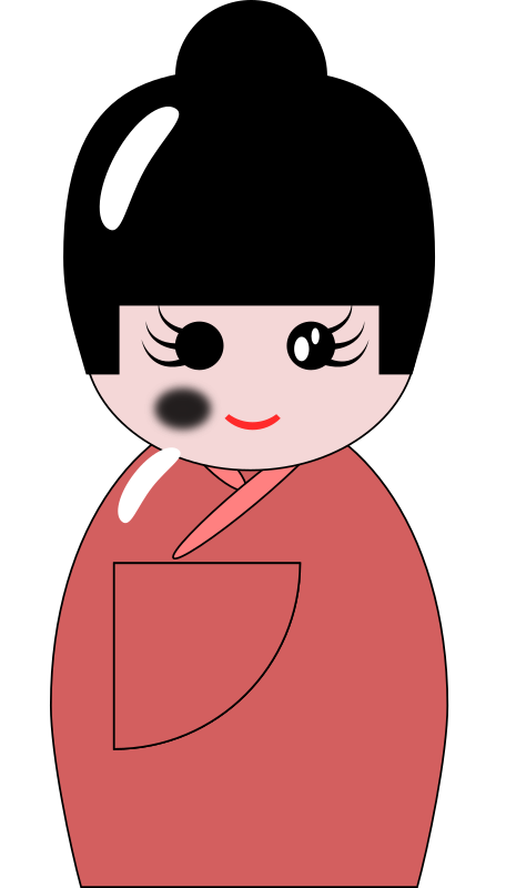 Kokeshi Doll by cdanielshafer - Kokeshi doll drawn from tutorial on http://verysimpledesigns.com/vectors/inkscape-tutorial-kokeshi-doll.html