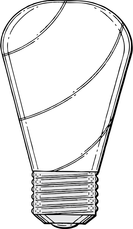 light bulb by johnny_automatic - an electric light bulb from a U.S. patent drawing