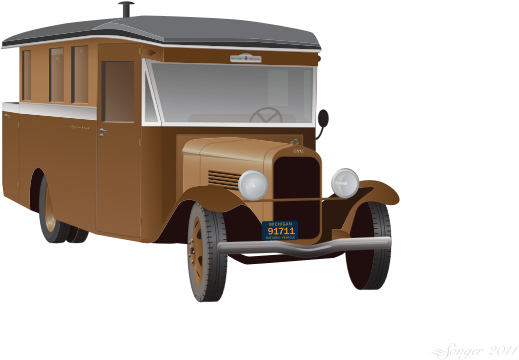 Old Truck Camper by bnsonger47 - 1930's truck with body for camping overnight.