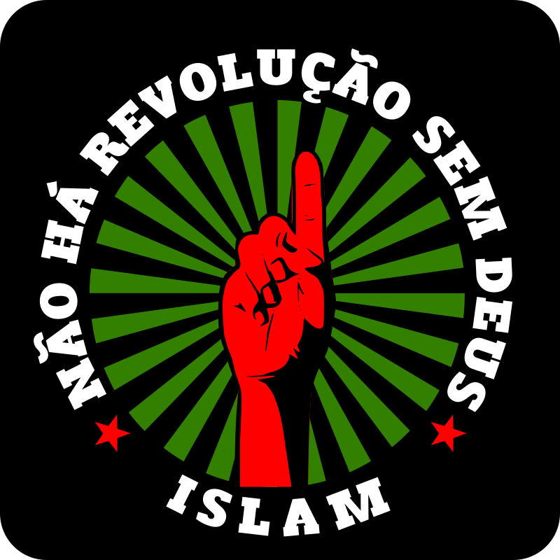 "Não há revolução sem deus by cliparteles - The text says in portuguese ""Theres is no revolution without god""