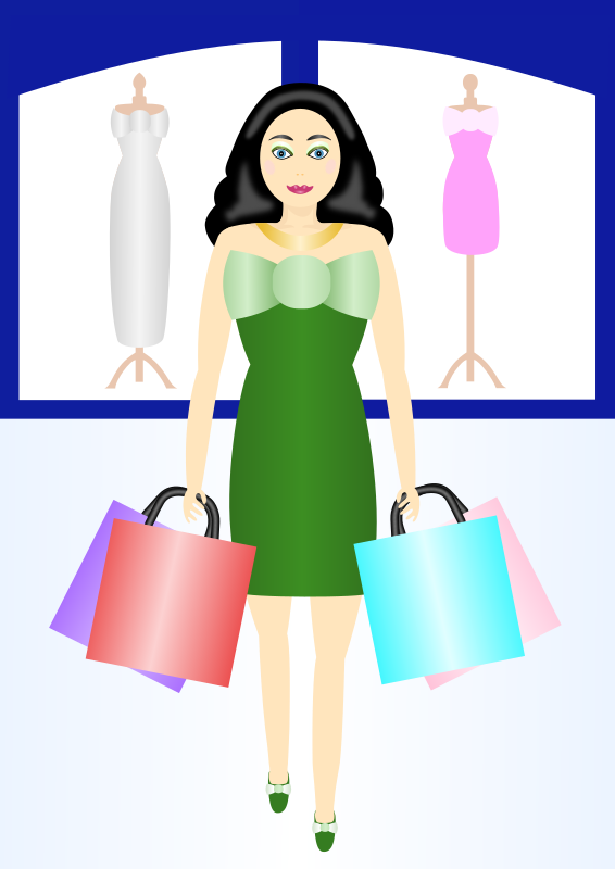 Woman shopping by Artmaker - Woman shopping for herself and family.