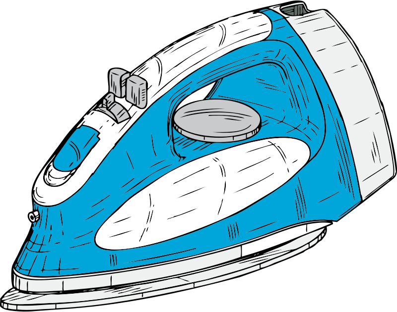clothes iron by johnny_automatic - a clothes iron from a U.S. patent drawing