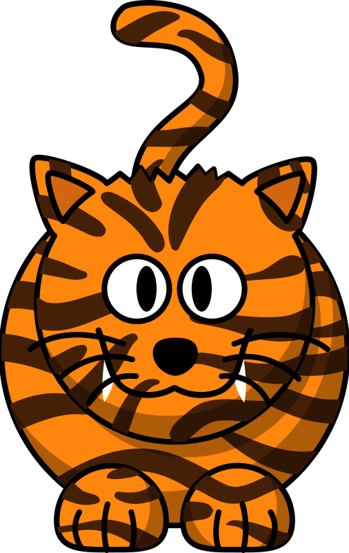 Cartoon Tiger by mmathieu - A tiger based on a leopard