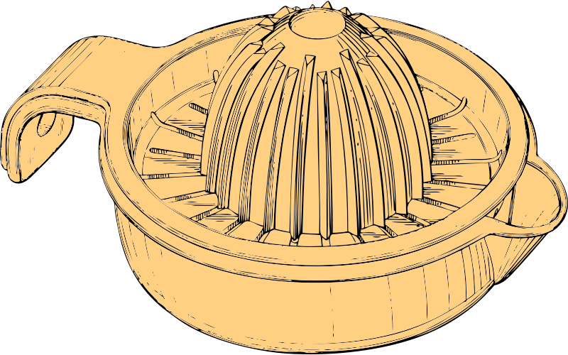juicer by johnny_automatic - a citrus fruit juicer from a U.S. patent drawing