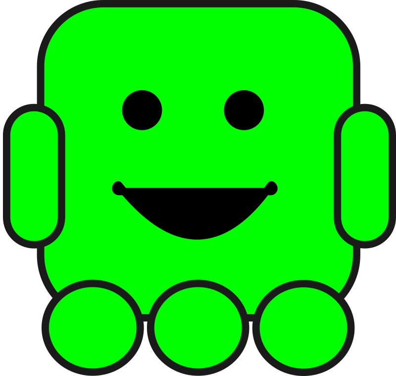 Friendly Robot by arcdroid - Little cute green robot